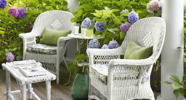 как ухаживать за плетеной мебелью